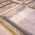 Travertine comes in many different shapes, sizes, and edge options.