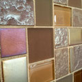 Amber Dimensions in our Caldera glass mosaic, stocked in Kent.