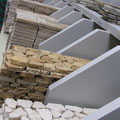 We have well over 50 options for borders, mosaics, and liners in various travertine colors.