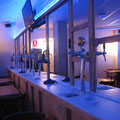 surtidors de cervesa, miralls i pantalla