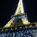 フランス・パリ エッフェル塔の夜景