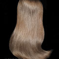 НАКЛАДКА - M на заколках, русая (натуральные славянские волосы)