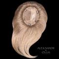 Накладка на сетке с Пробором - постиж, светло-русый, прямые волосы