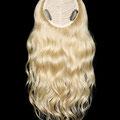 НАКЛАДКА - M на заколках, блонд (натуральные славянские волосы)