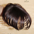 Накладка на Пробор - постиж, шатен коричневый, прямые волосы
