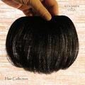 Лёгкая ЧЁЛКА - шиньон, чёрная (натуральные славянские волосы)