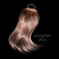 ХВОСТ на резинке, тёмно-русый (натуральные славянские волосы)