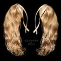 ХВОСТИКИ light на заколках, мелирование (натуральные славянские волосы)