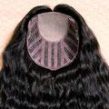 ПОЛУ-ПАРИК combo (под ободок), тёмно-русый, волнистые волосы
