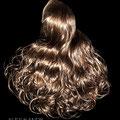 БАБЕТТА maxi на заколках, мелирование (натуральные славянские волосы)