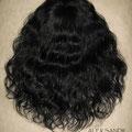 НАКЛАДКА combo на заколках - постиж, чёрный (натуральные славянские волосы)