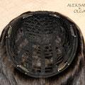 ПОЛУ-ПАРИК combo (под ободок), тёмно-русый, прямые волосы