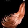 ЛОКОН-имитация на заколке, медные (натуральные славянские волосы)