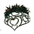 ДИАДЕМА - постиж, сердце к сердцу (из натуральных волос)