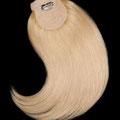 ХВОСТ на резинке, светлый блонд, прямые волосы