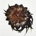 ЗАКОЛКА - постиж, коричневый цветок (из натуральных волос)