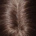 Накладка на Пробор - постиж, тёмно-русый, прямые волосы