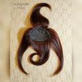 НАКЛАДКА - Чёлка, красно-медный, с лёгкой волной (натуральные славянские волосы)