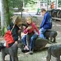 Sorgt für leuchtende Augen: Der Waldspielplatz