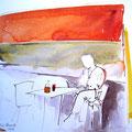 Im Café (Aquarell)