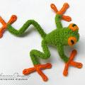 Вязаная лягушка. Автор Офицерова Светлана