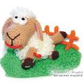 Вязаная овечка. Автор Офицерова Светлана