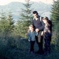 1968 mit dem Vater und älteren Bruder auf dem Allgäuer Königsweg