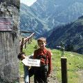 1971 beim Aufstieg zum Grünhorn im Kleinwalsertal