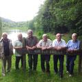 Gründungsmitglieder im Jubiläumsjahr 2014 - Ernst Schneider, Erich Schneider, Wolfgang Dörr, Edmund Jude, Friedhelm Jude, Werner Ernst