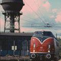 V200 116 im Bw Duisburg Wedau 28.08.1993 .