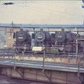 050-904-2, 053-075-8, 051-397-8 vor dem Lokschuppen im Bw Wedau.