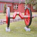 Radsatz einer Dampflok im Bw in Wedau.