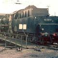 052 508-9 auf der Drehscheibe im Bw Wedau 02.07.1975.