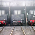 050 885-3 , 050 719-4 und 050 003-3 im Lokschuppen Wedau.