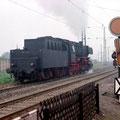 050 256-7 durchfährt den Rangierbahnhof Duisburg Wedau.