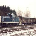 360 216-6 rangiert im Bahnhof Velbert 1996.