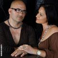 Daniela & Domenico mit Einzelstücken von der Goldschmiede OBSESSION