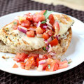 easy Italian chicken bruschetta sandwich