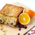 vegan cranberry orange oatmeal bread
