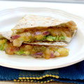 Mango chutney and avocado quesadilla