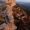 lever du soleil sur le chatau de Montsegur