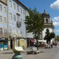 Façades faïençées et le coq portugais, l'emblème national