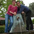 Jo et moi à la Fontaine à Despeñaperros