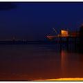 Carrelet de nuit à Meschers sur Gironde.