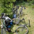 Statt LKW und Baumaschine, haben wir das Fahrrad