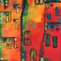 Kamieniczka in Altstadt Warschau      2007      40x80     Acryl auf Lwd.