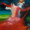Vergessen im Tanz     2010     80x110      Acryl auf Lwd.