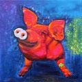 Glücksschwein des Jahres 2016     60x60           Acryl auf Lwd-