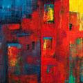 Heat of the night          2009        60x60           Acryl auf  Lwd.