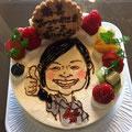 似顔絵ケーキ カナリーカラメル